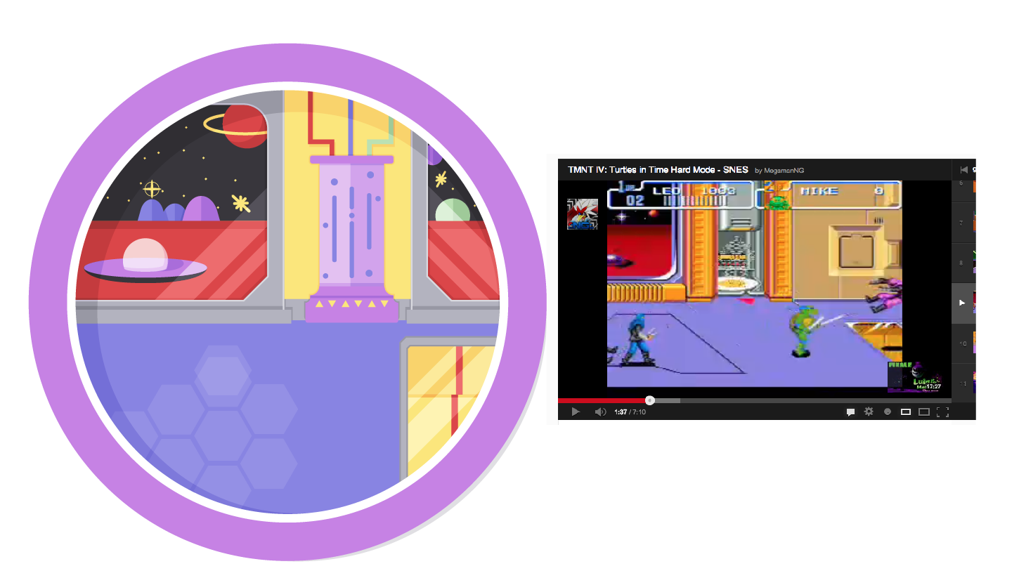 TMNT: Turtles in Time Levels - image 10 - student project