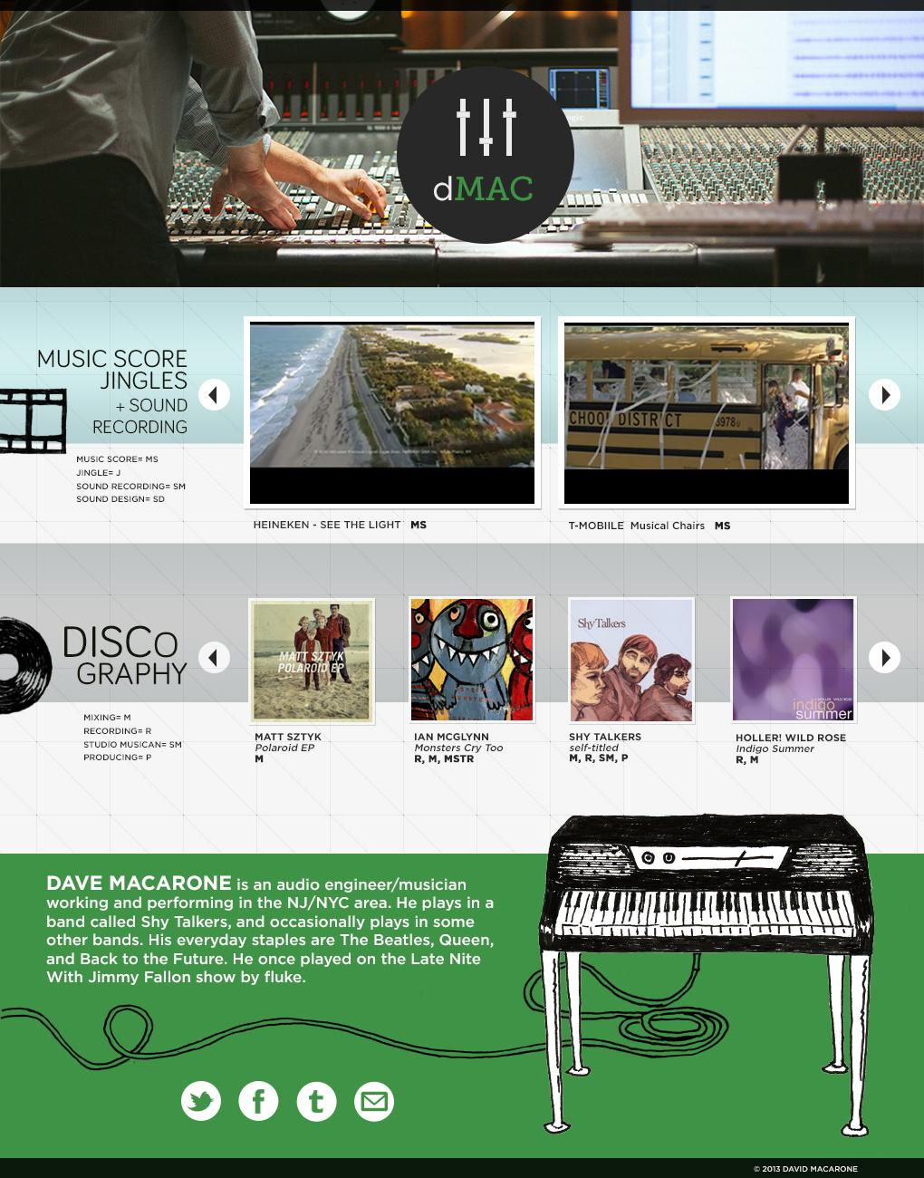 UPDATED: A Recording Engineer's Website - image 4 - student project
