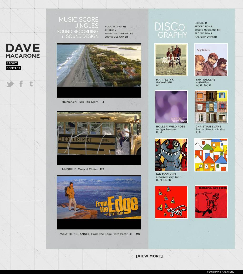 UPDATED: A Recording Engineer's Website - image 1 - student project