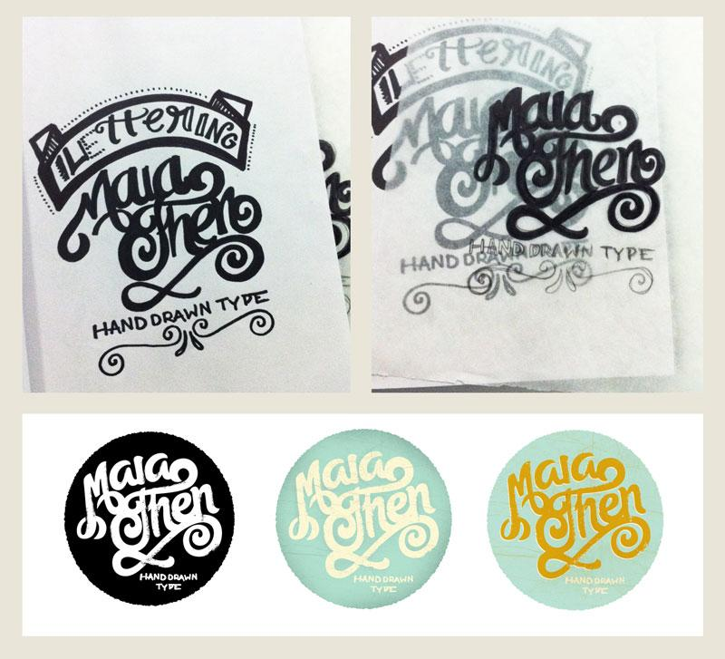 Maia Hand Drawn Type - image 2 - student project