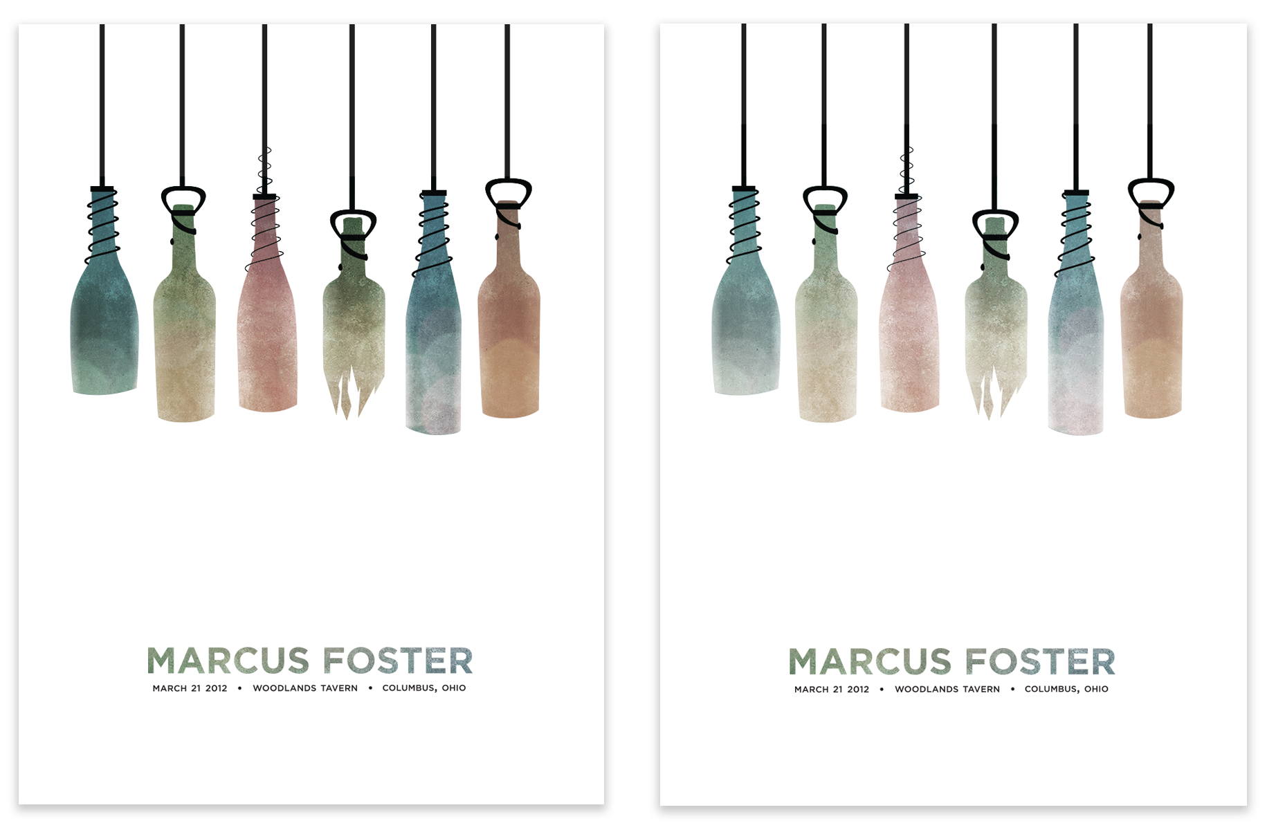 COMPLETE: Marcus Foster Gig Poster - image 12 - student project