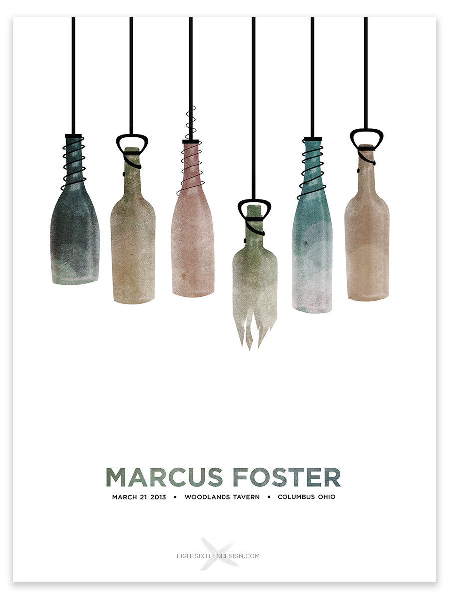 COMPLETE: Marcus Foster Gig Poster - image 15 - student project