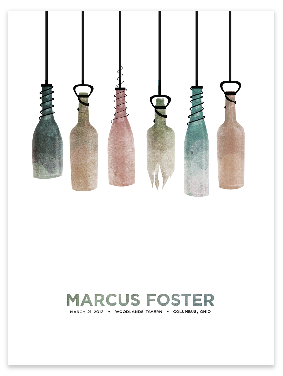COMPLETE: Marcus Foster Gig Poster - image 14 - student project
