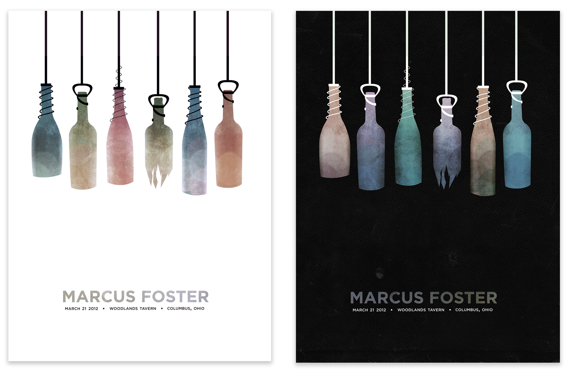 COMPLETE: Marcus Foster Gig Poster - image 13 - student project