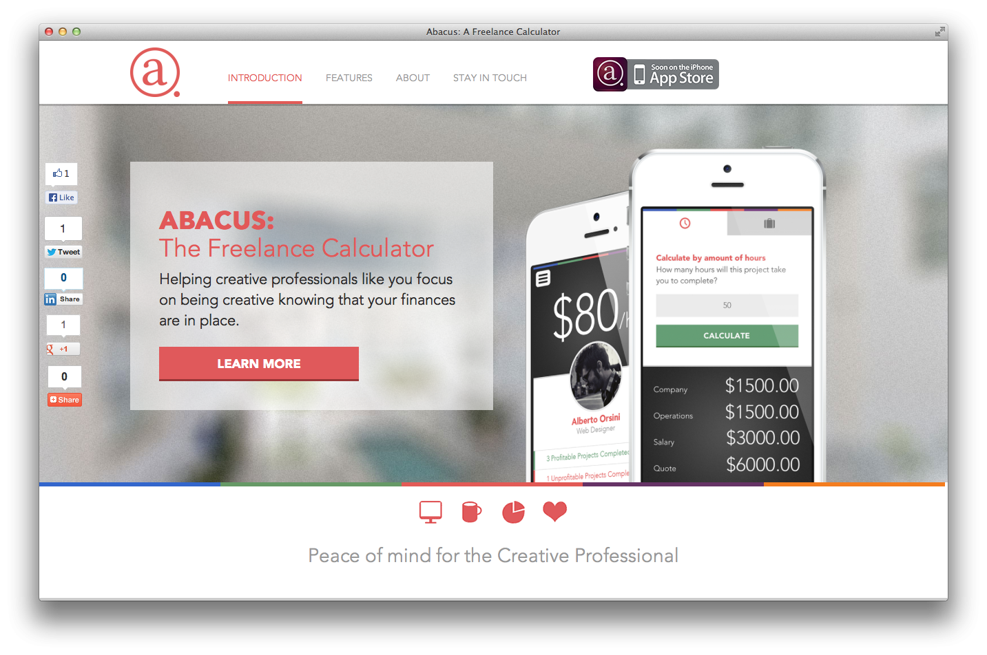 Abacus - A freelance calculator - image 3 - student project