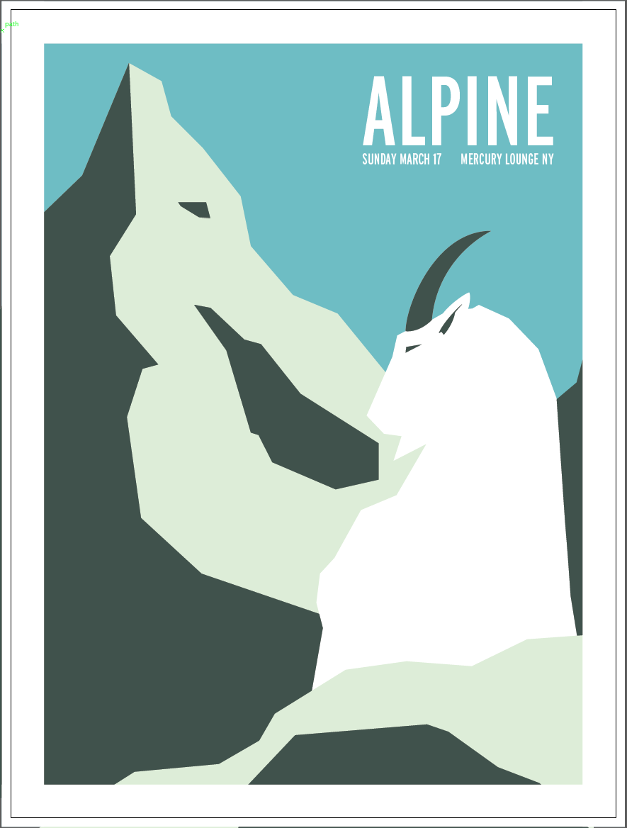 Alpine gig poster - image 4 - student project