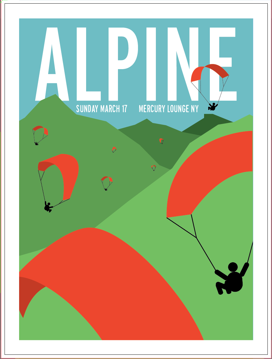 Alpine gig poster - image 5 - student project