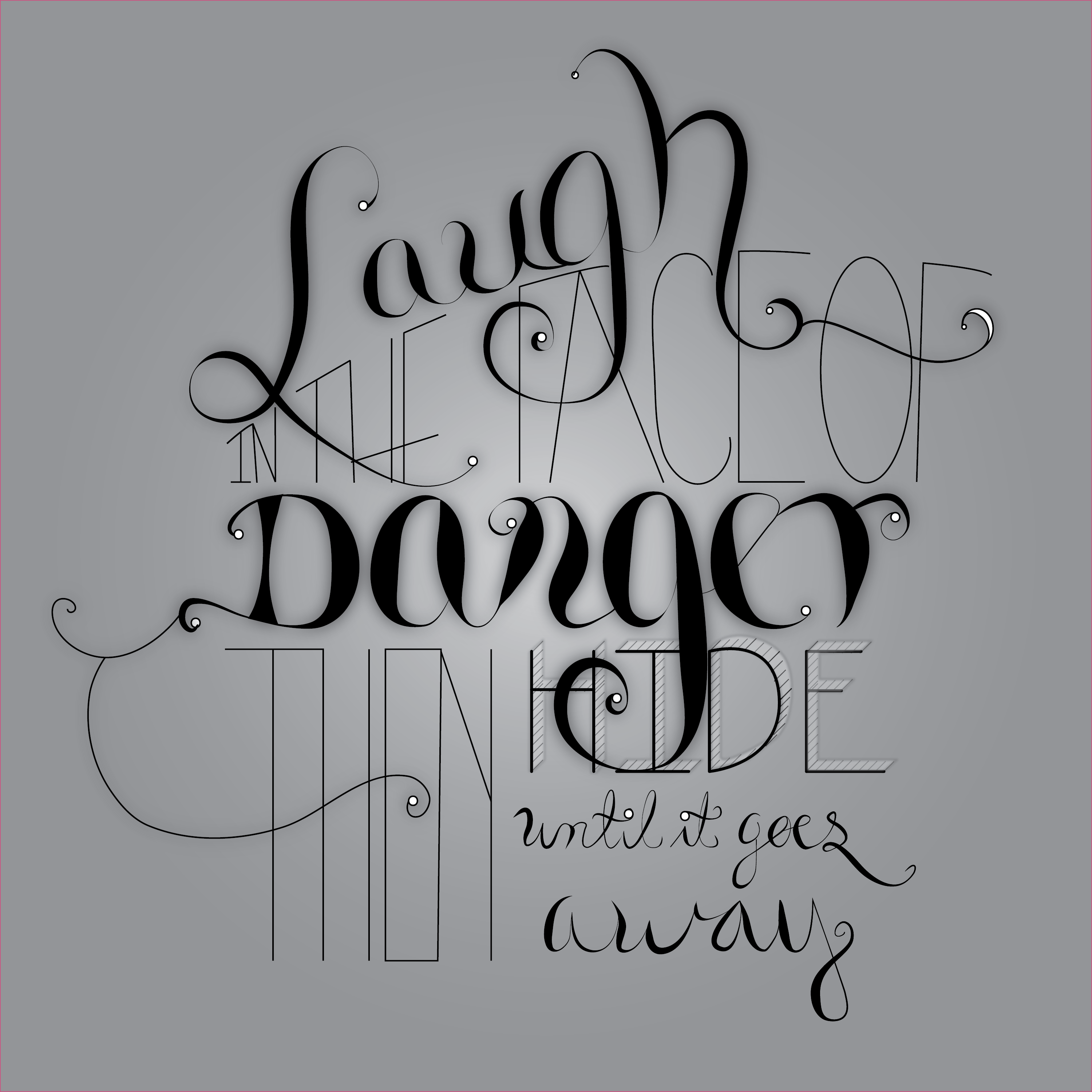 """""""I Laugh in the face of Danger, then I hide till it goes away"""" - image 1 - student project"""