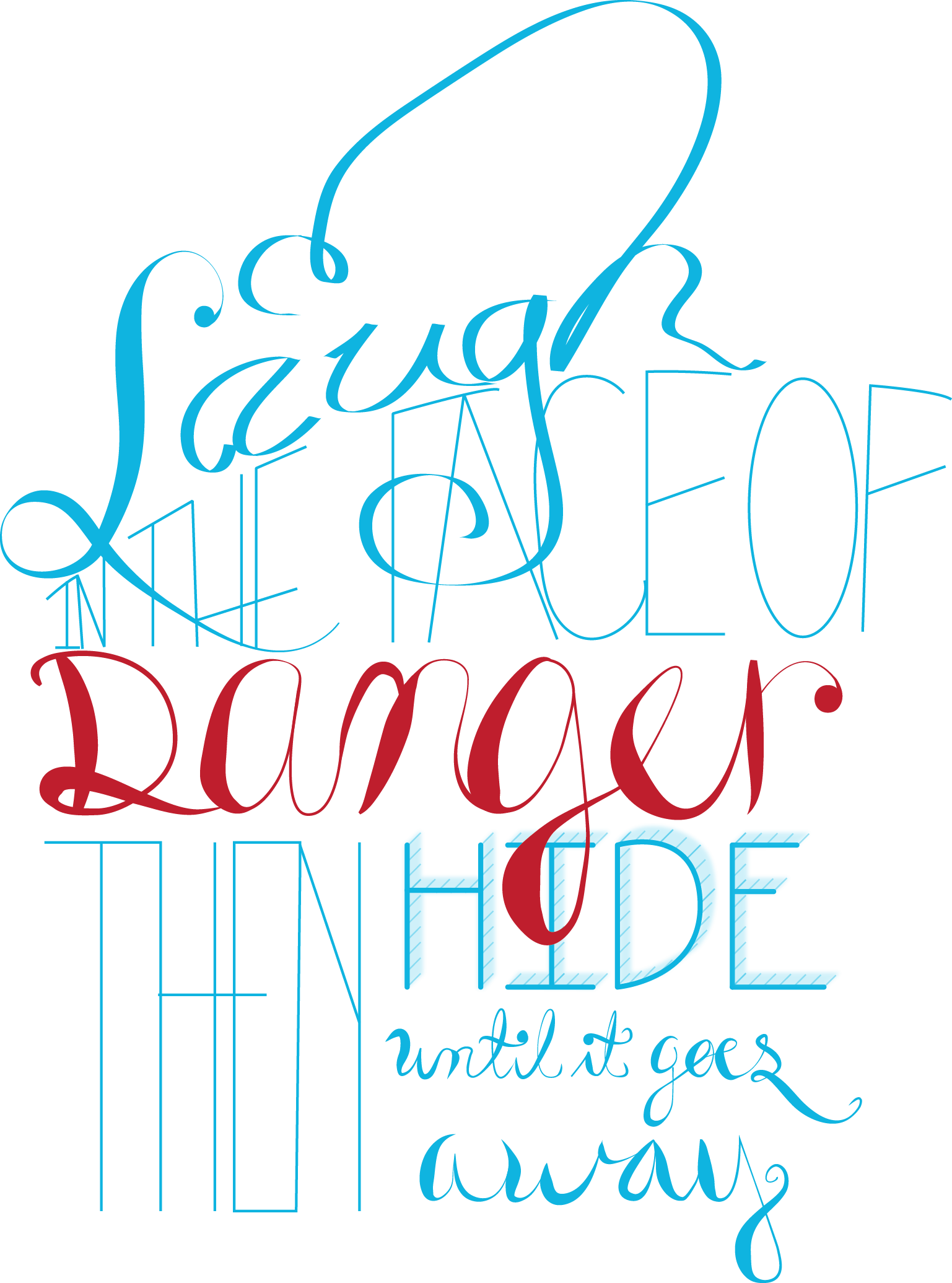 """""""I Laugh in the face of Danger, then I hide till it goes away"""" - image 5 - student project"""