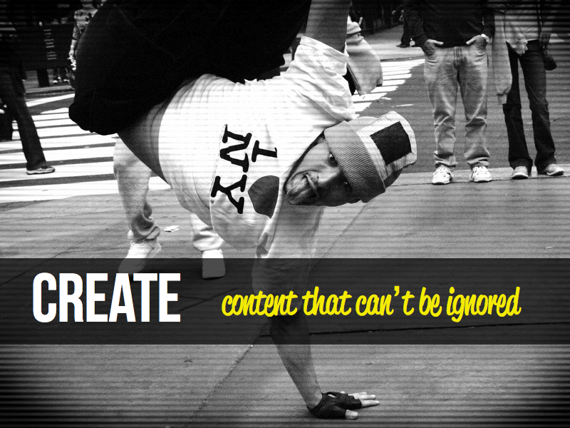 Creare content that can't be ignored - image 2 - student project