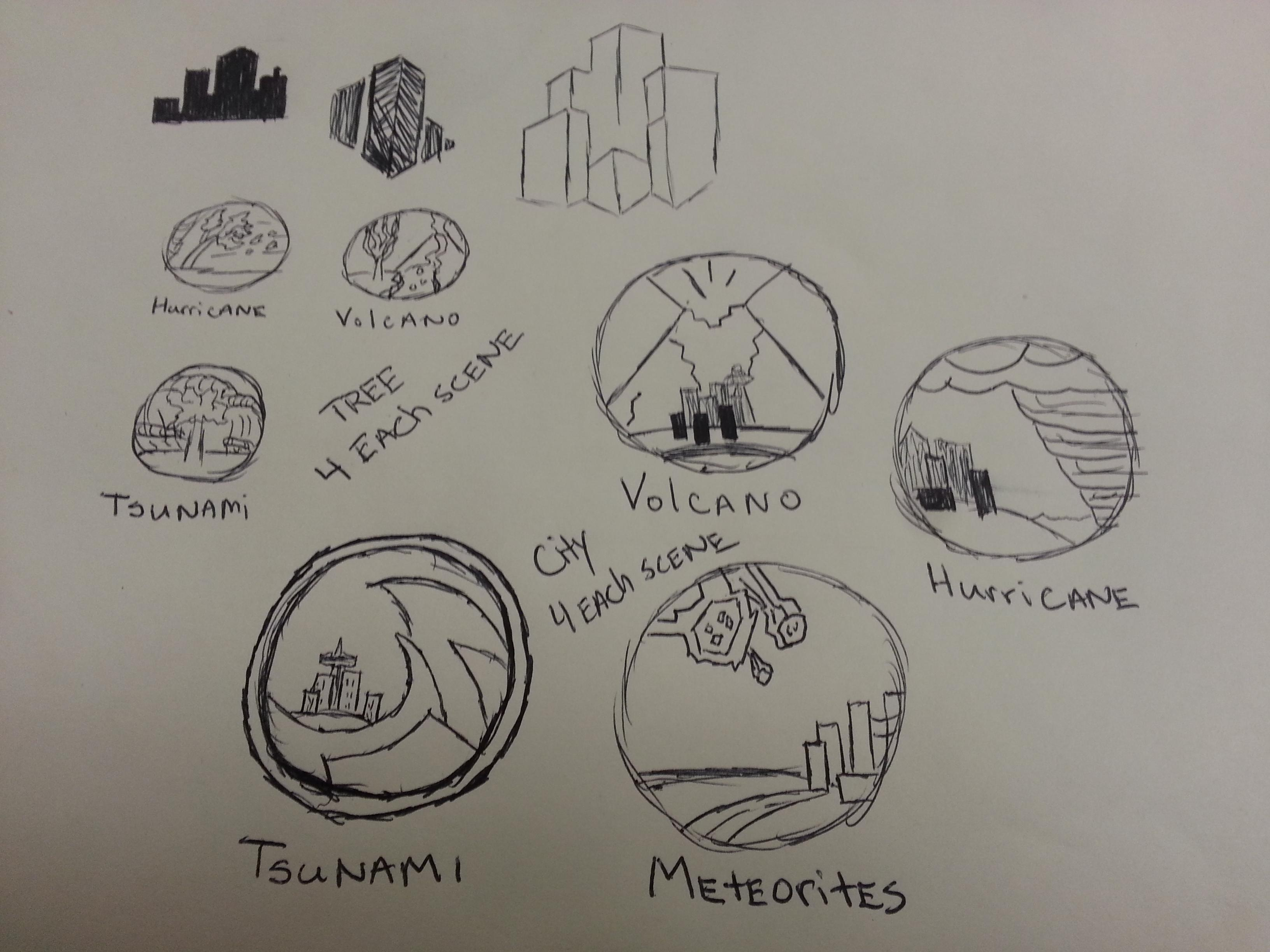 catastrophic event icons - image 4 - student project