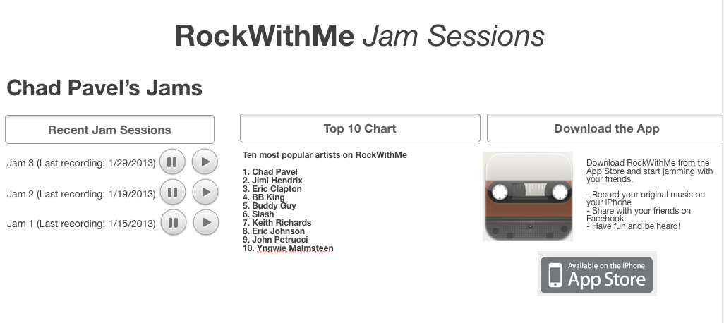 RockWithMe - Share Original Music with Friends - image 1 - student project
