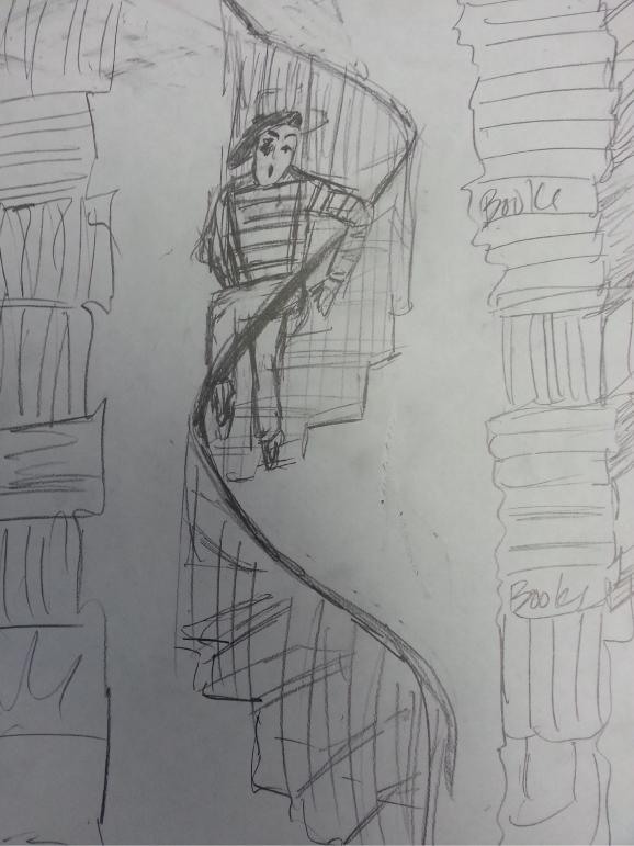 Quiet:  Mime descending staircase - image 4 - student project