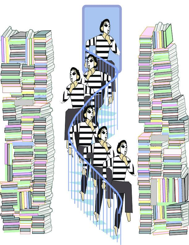 Quiet:  Mime descending staircase - image 1 - student project