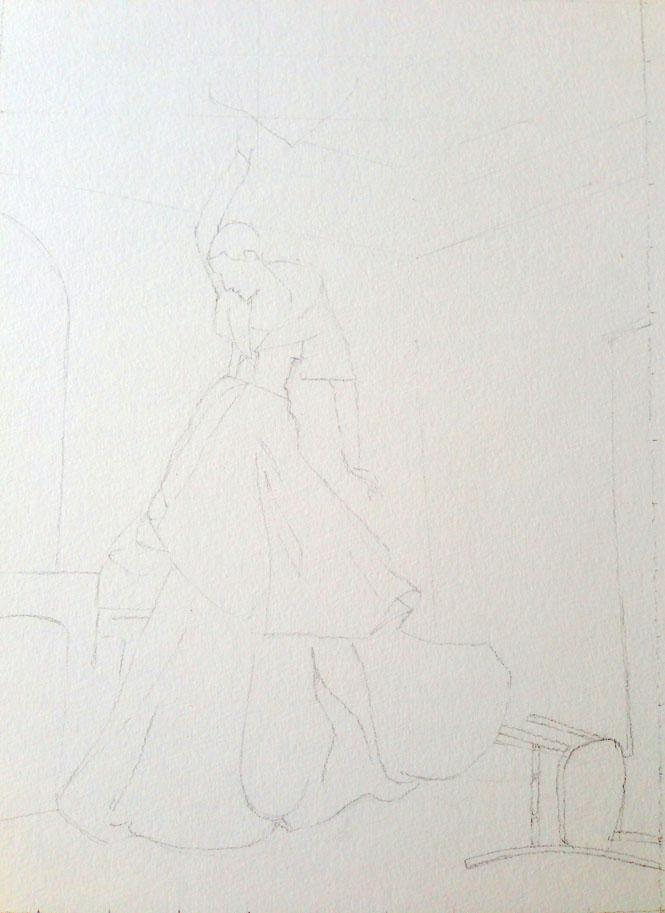 WATERCOLOR,SKETCH: High-Fashion Fantasy - image 2 - student project