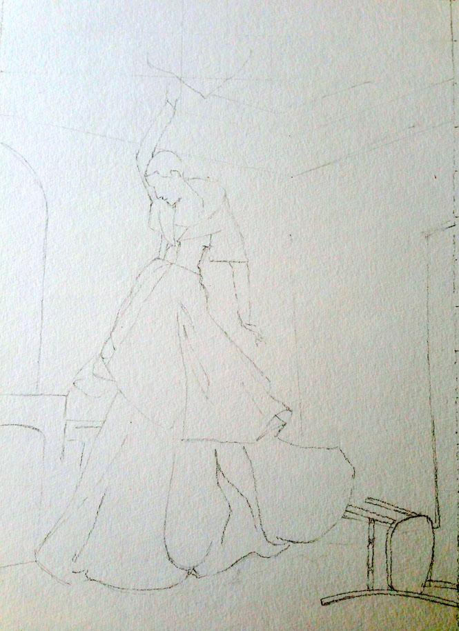 WATERCOLOR,SKETCH: High-Fashion Fantasy - image 3 - student project