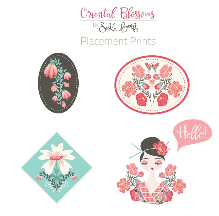Oriental Blossoms Surface Design - Patterns Collection - image 5 - student project