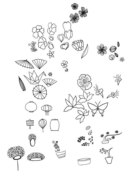 Oriental Blossoms Surface Design - Patterns Collection - image 1 - student project