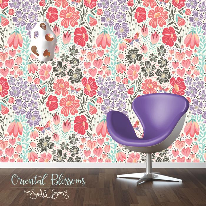 Oriental Blossoms Surface Design - Patterns Collection - image 7 - student project