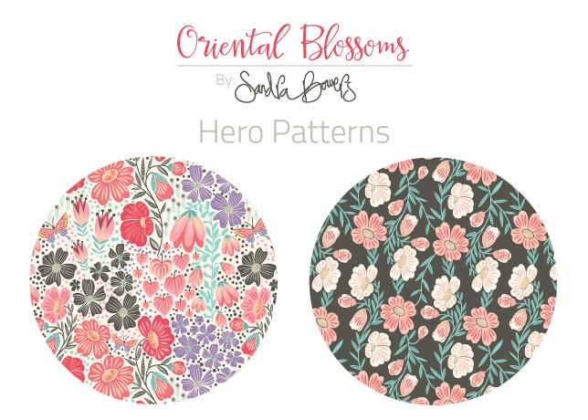Oriental Blossoms Surface Design - Patterns Collection - image 3 - student project