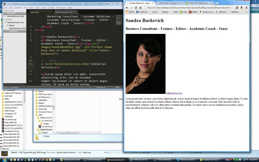 Sandra's Business Site - image 1 - student project