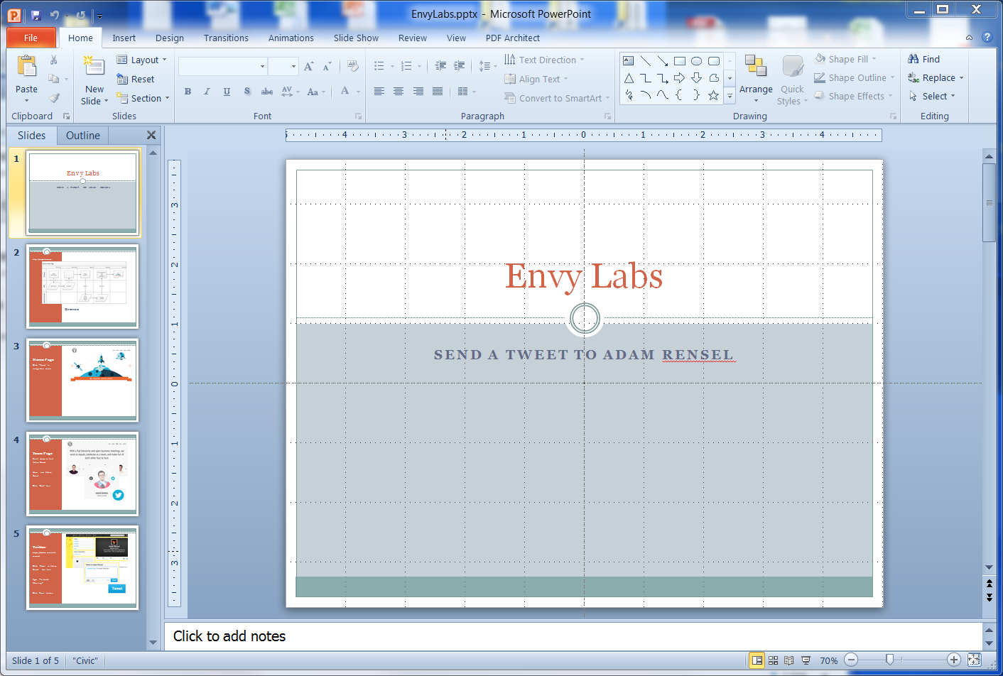 Sketching Envy Labs (http://envylabs.com/) - image 1 - student project