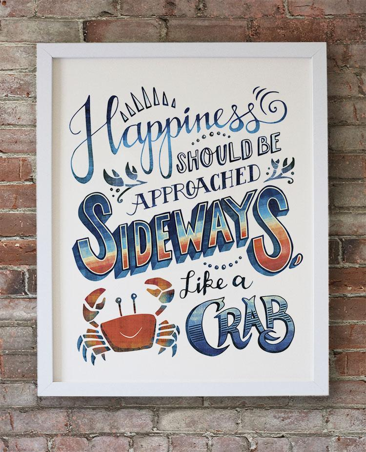 Happiness should be approached sideways, like a crab. - image 1 - student project