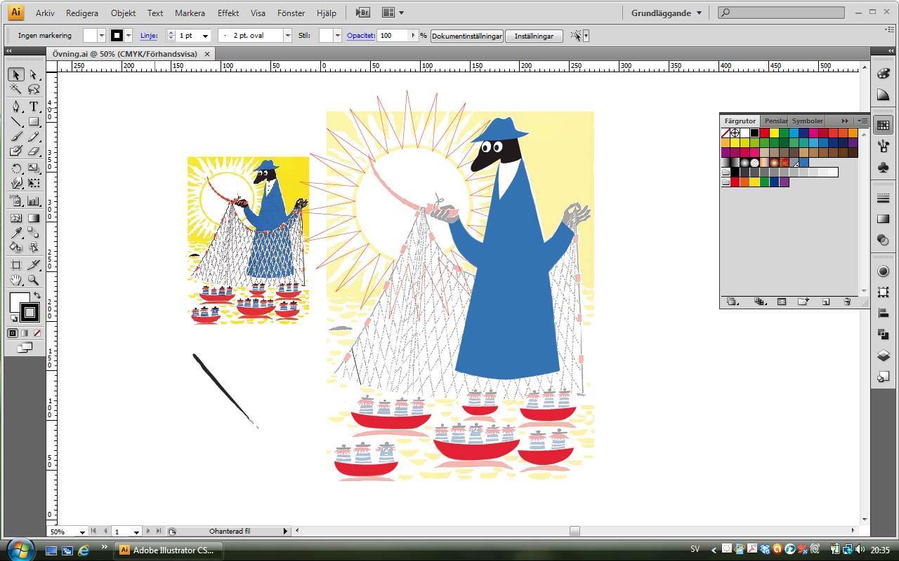 Tove Jansson illustration - image 1 - student project