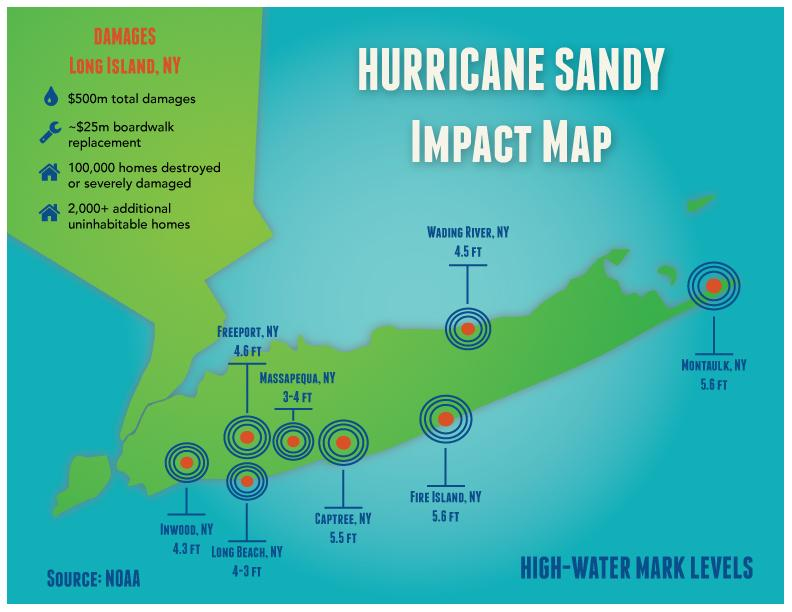 Map of places impacted by hurricane sandy - image 1 - student project