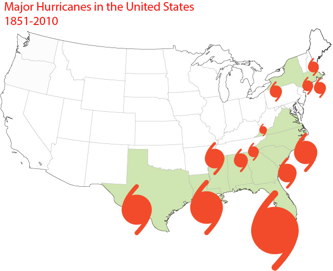 Major Hurricanes in the United States - image 1 - student project