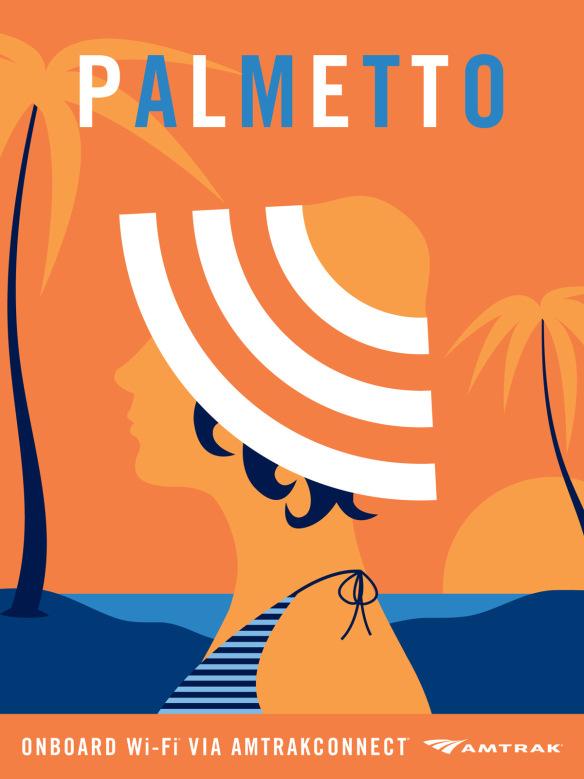 Palmetto Amtrak ad - image 1 - student project
