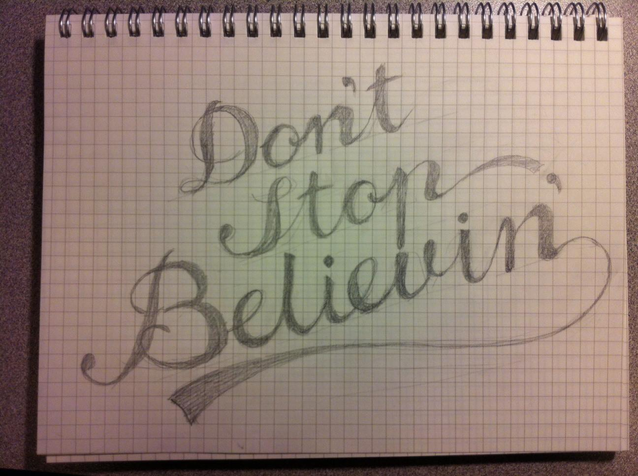 Don't Stop Believin' - image 1 - student project