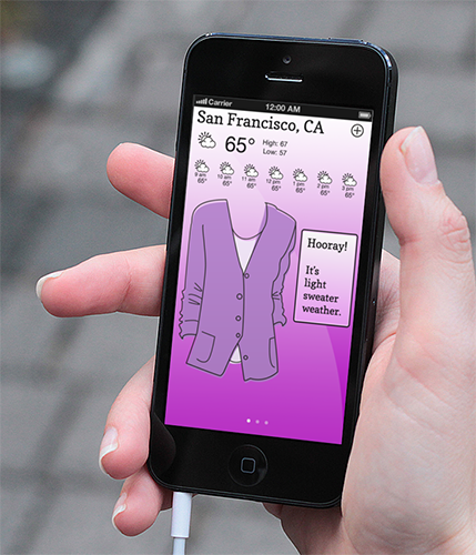 Weather app: the weathering. - image 5 - student project