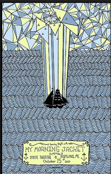 Jeff Mangum (Neutral Milk Hotel) With Tall Firs Gig poster - image 17 - student project