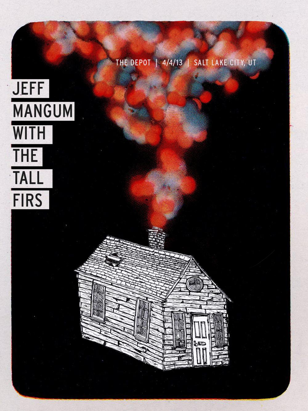 Jeff Mangum (Neutral Milk Hotel) With Tall Firs Gig poster - image 1 - student project