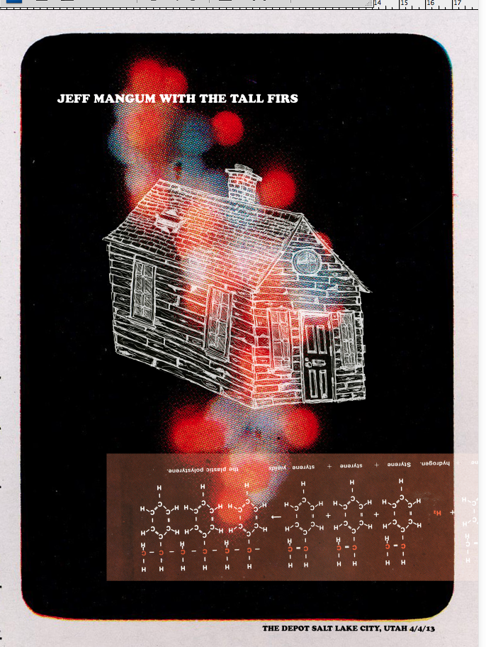 Jeff Mangum (Neutral Milk Hotel) With Tall Firs Gig poster - image 22 - student project