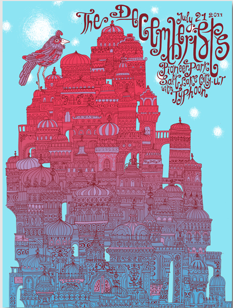 Jeff Mangum (Neutral Milk Hotel) With Tall Firs Gig poster - image 14 - student project
