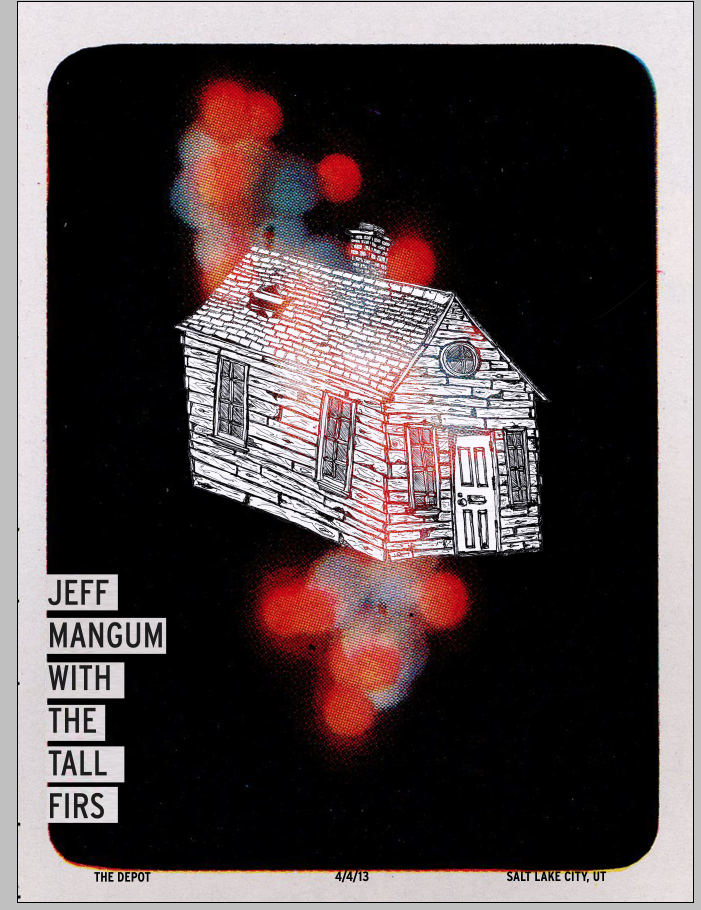 Jeff Mangum (Neutral Milk Hotel) With Tall Firs Gig poster - image 3 - student project
