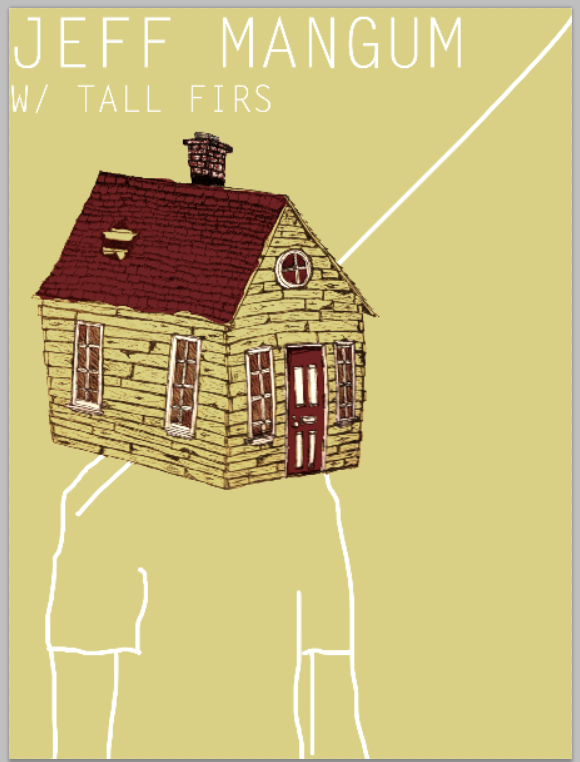 Jeff Mangum (Neutral Milk Hotel) With Tall Firs Gig poster - image 20 - student project