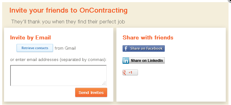 OnContracting - find contract jobs - image 5 - student project