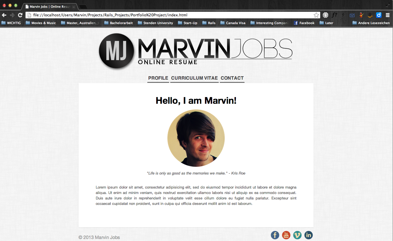 Online Resume   Marvin Jobs - image 2 - student project