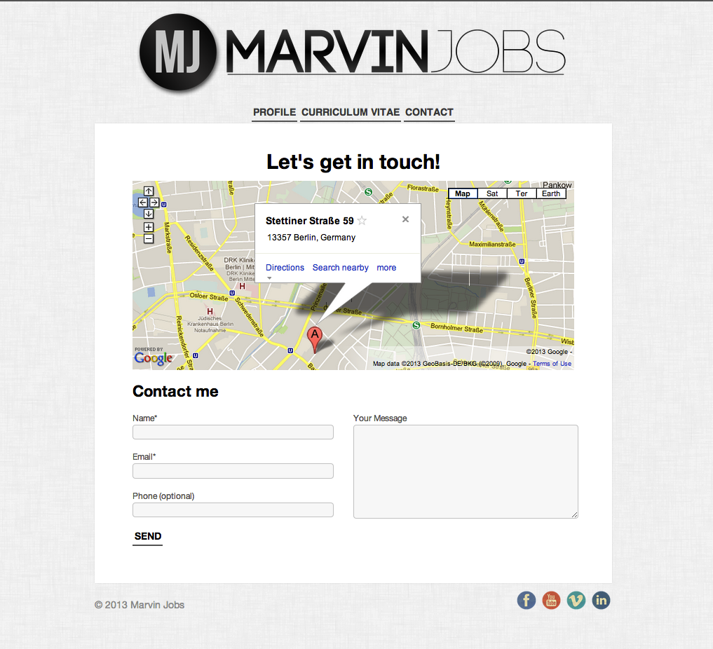 Online Resume   Marvin Jobs - image 3 - student project