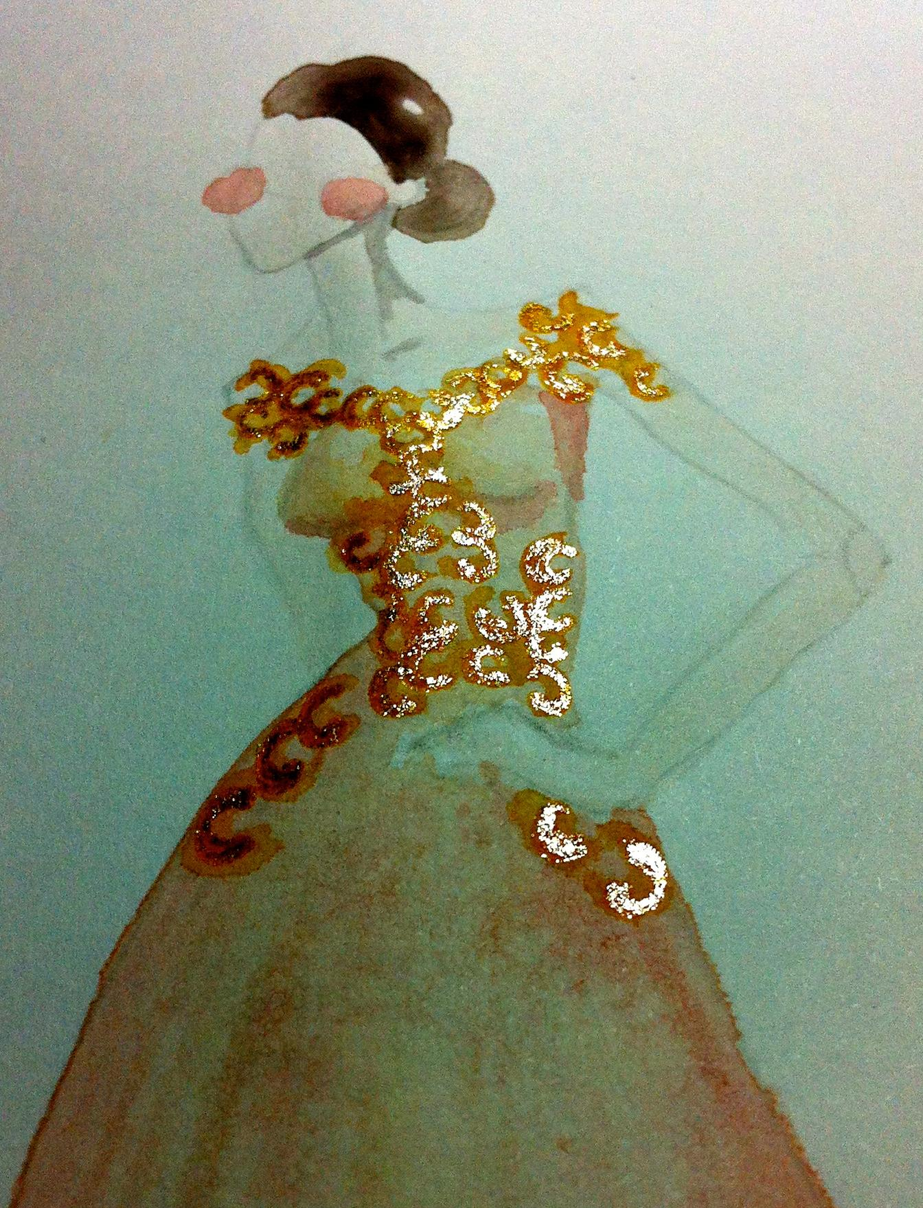 WATERCOLOR - Little Girl Dreams - image 12 - student project