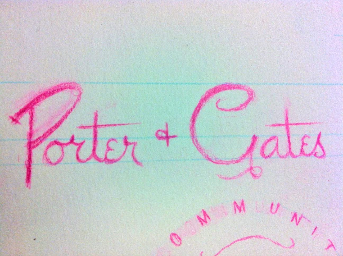 Porter+Gates Logo Sketches - image 4 - student project