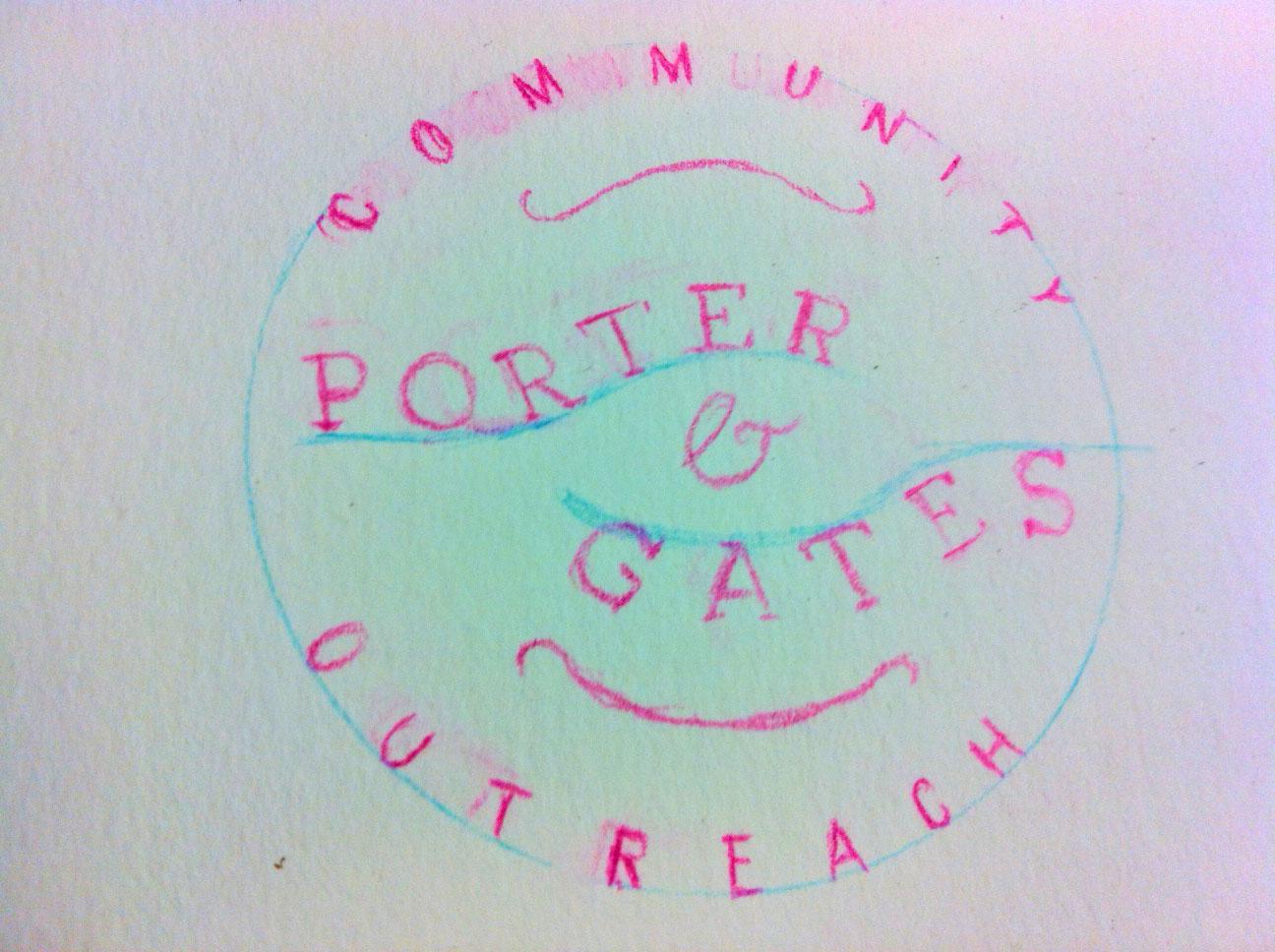 Porter+Gates Logo Sketches - image 1 - student project