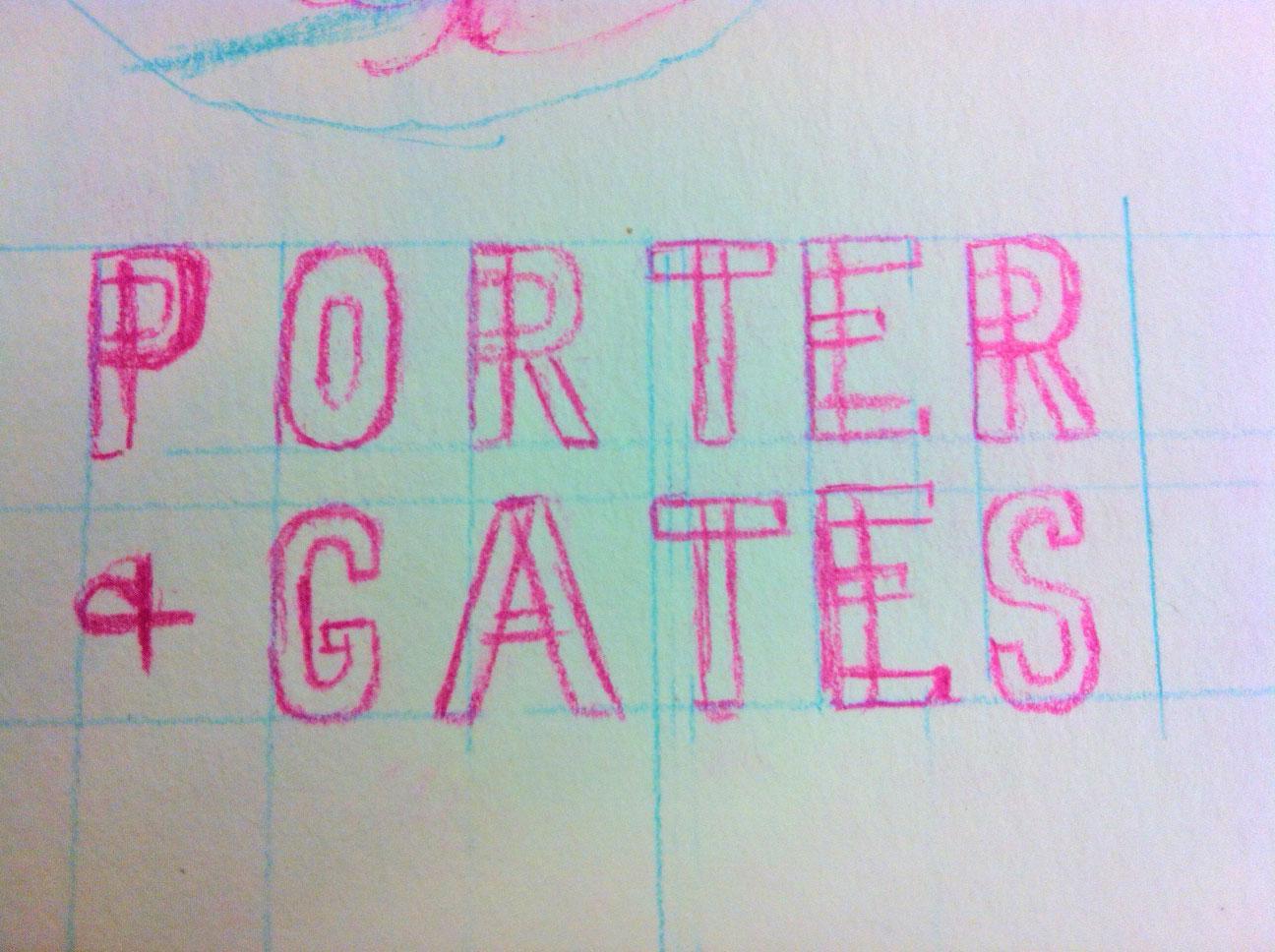 Porter+Gates Logo Sketches - image 2 - student project