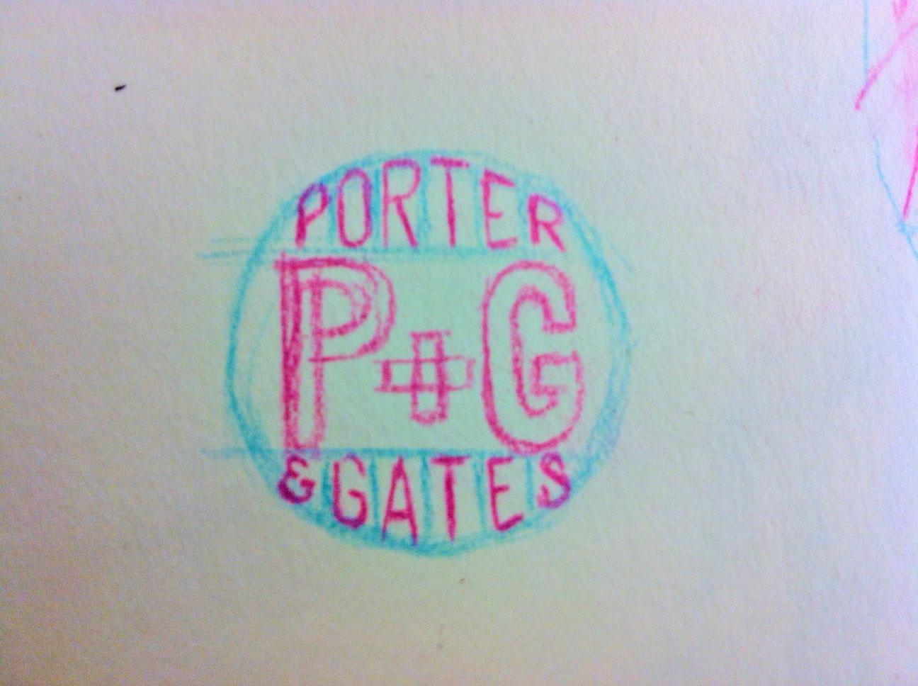 Porter+Gates Logo Sketches - image 3 - student project