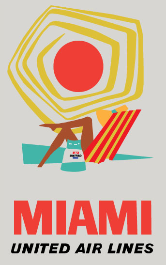 United Airlines Miami Poster - image 1 - student project
