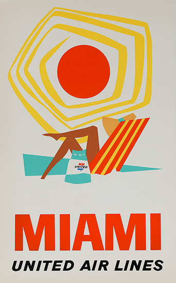 United Airlines Miami Poster - image 2 - student project