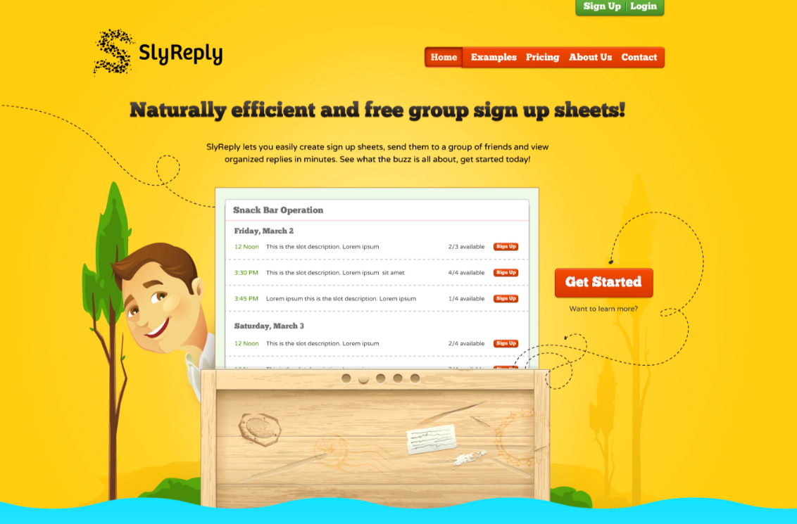 SlyReply - Online Sign Up Sheets - image 1 - student project